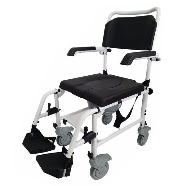 [메디타운] 알루미늄샤워체어(변기겸용) MAX2081/HE2081|이동변기 알루미늄 목욕의자 샤워체어 샤워의자 환자용좌변기 이동용좌변기 이동식좌변기 이동식화장실 샤워휠체어 알루미늄샤워휠체어