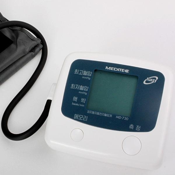 [메디텍] 국내제조 MD-730 팔뚝형전자혈압계 (전용어댑터포함) / 전자혈압측정기 혈압측정기 혈압측정계 가정용혈압계 상박혈압계 가정용혈압계 개인혈압계 병원혈압계