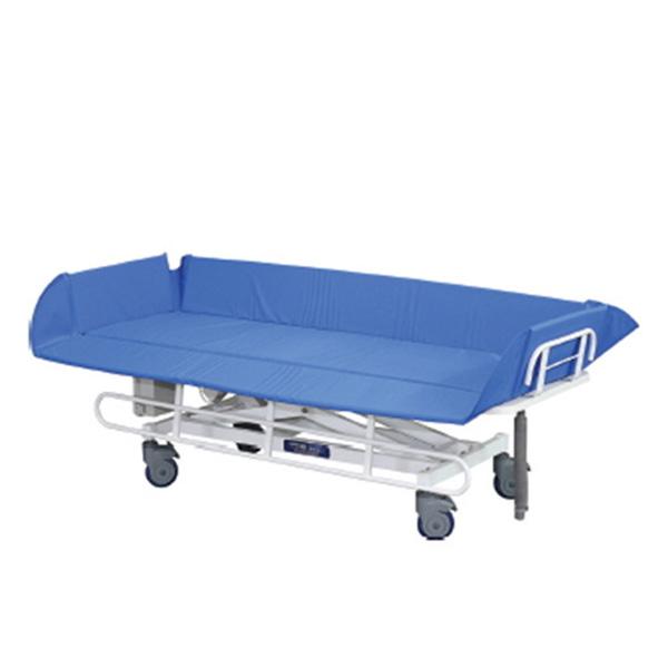[해피베드] HB-702,HB702 전동식샤워트롤리(리모콘있음) 1920x770x500~750mm /환자용샤워트롤리 이동목욕침대 간병침대 샤워트롤리 환자용침대