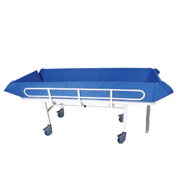 [해피베드] HB-701,HB701 고정식샤워트롤리 2000x820x600~700mm /환자용샤워트롤리 이동목욕침대 간병침대 샤워트롤리 환자용침대